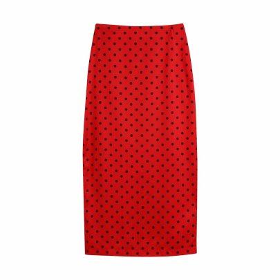 Polka Dot Straight Skirt Nihaostyles Clothing Wholesale NSAM81042