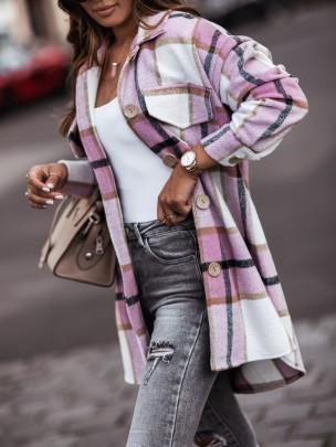Plaid Shirt Jacket Nihaostyles Clothing Wholesale NSOUY81282