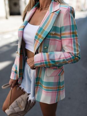 Plaid Suit Jacket Nihaostyles Clothing Wholesale NSOUY81278