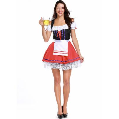 Beer Bar Waitress Dress Set Nihaostyles Clothing Wholesale NSPIS81389