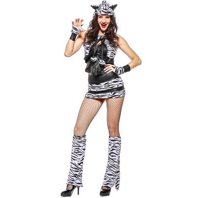 White Tiger Animal Cosplay Costume Set Nihaostyles Wholesale Halloween Costumes NSPIS81391