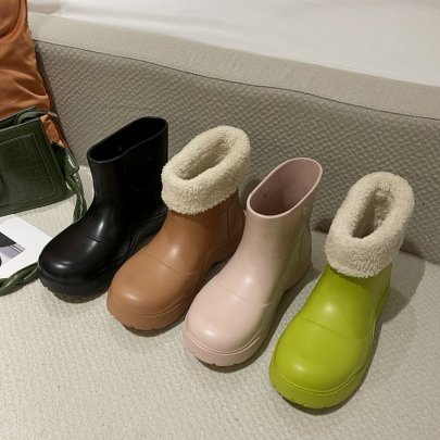Big Head Short Tube Boots Rain Nihaostyles Clothing Wholesale NSDFX81435