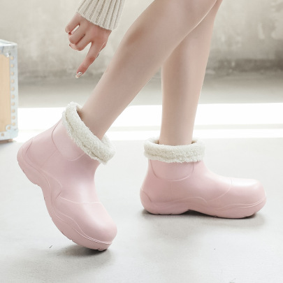 Plus Velvet Waterproof Thick-soled Boots Nihaostyles Clothing Wholesale NSCXX81459