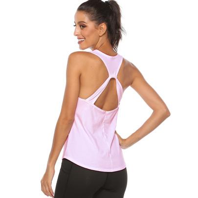 High Stretch Loose Hollow Yoga Vest Nihaostyles Clothing Wholesale NSZLJ81465