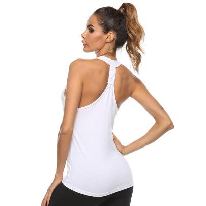 High Stretch Sleeveless Yoga Vest Nihaostyles Clothing Wholesale NSZLJ81473