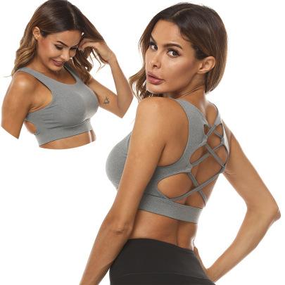 Hollow High-stretch Yoga Bra Nihaostyles Clothing Wholesale NSZLJ81474