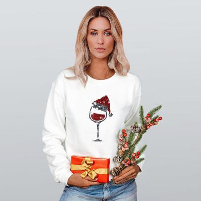 Heat Transfer Long-sleeved Pullover Round Neck Sweatshirt Nihaostyles Clothing Wholesale NSMDF81521