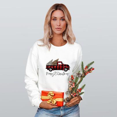 Christmas Heat Transfer Round Neck Long-sleeved Sweatshirt Nihaostyles Wholesale Christmas Costumes NSMDF81523