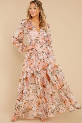 Floral Digital Printing Button Ruffled Long-sleeved Dress Nihaostyles Clothing Wholesale NSMDF81528