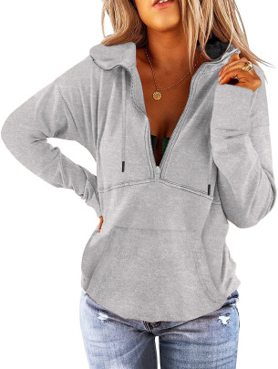 Solid Color Full Zipper Long-sleeved Hoodie Nihaostyles Clothing Wholesale NSMDF81542
