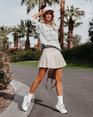 Heat Transfer Round Neck Loose Long-sleeved Sweatshirt Nihaostyles Clothing Wholesale NSMDF81544