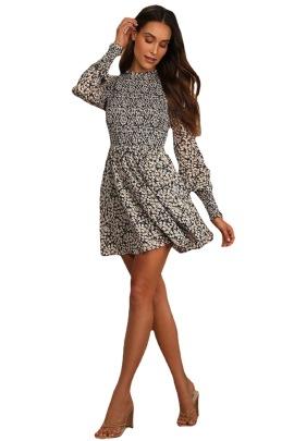 Floral Digital Printing Long-sleeved Dress Nihaostyles Clothing Wholesale NSMDF81545
