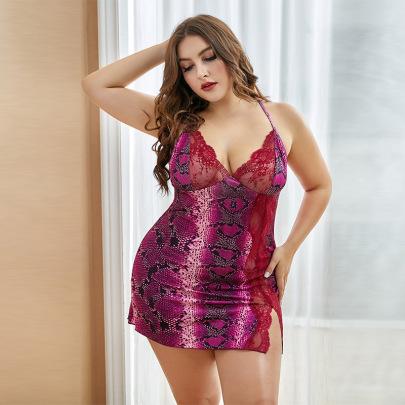 Women's Leopard Print Lace Stitching Strap Two-piece Underwear Set Nihaostyles Clothing Wholesale NSMDS77135