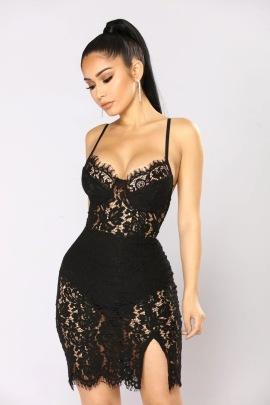 Women's Crochet Lace Sling Dress Nihaostyles Clothing Wholesale NSDMS77164