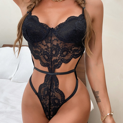 Women's Lace One-piece Lingerie Nihaostyles Clothing Wholesale NSRBL77177