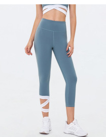 Women's High Waist Quick-drying Cropped Fitness Yoga Pants Nihaostyles Clothing Wholesale NSSMA77187