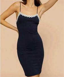 Women's Elastic Slim Sling Dress Nihaostyles Clothing Wholesale NSXPF77238