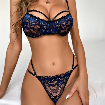 Women's Lace Lingerie Set Nihaostyles Clothing Wholesale NSRBL77259