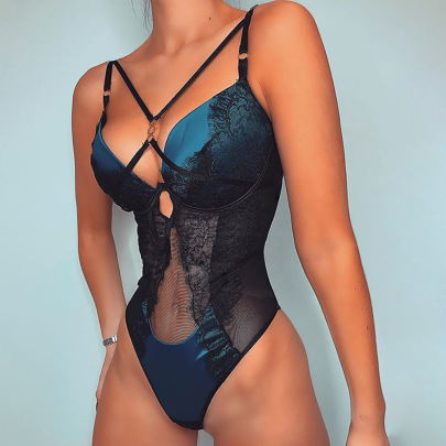 Women's Body-sculpting Sling One-piece Swimsuit Nihaostyles Clothing Wholesale NSRBL77280