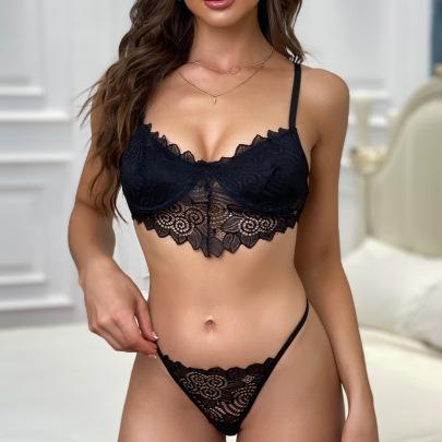 Women's Lace Lingerie Set Nihaostyles Clothing Wholesale NSRBL77288
