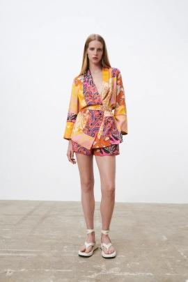 Women's Ethnic Printed Shorts Nihaostyles Clothing Wholesale NSXPF77302