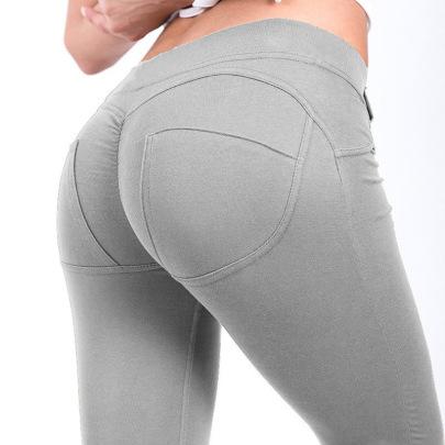 High-stretch Yoga Leggings With Pocket Nihaostyles Clothing Wholesale NSZLJ81650