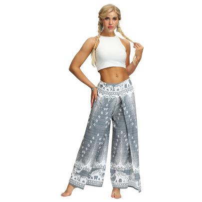 Thailand Bohemian Print Slit Legs Yoga Pants Nihaostyles Clothing Wholesale NSMDF81655