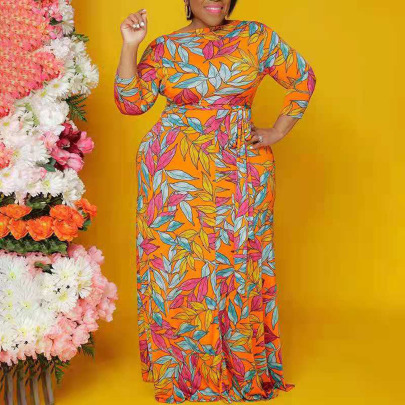 Plus Size Slim African Style Print Dress Nihaostyles Clothing Wholesale NSYMA81689
