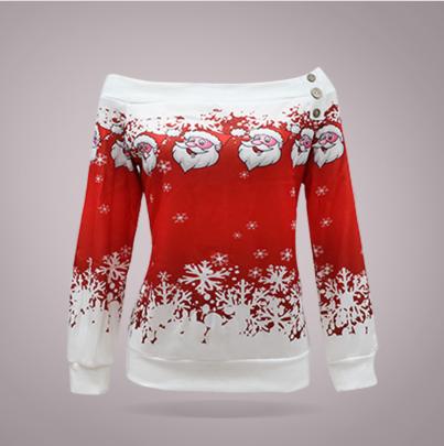 Santa Print Buttoned Plus Velvet Sweatershirt Nihaostyles Wholesale Christmas Costumes NSYIS83190