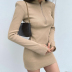 autumn and winter high-neck half-zipper long-sleeved finger sleeve dress nihaostyles wholesale clothing NSYID83184