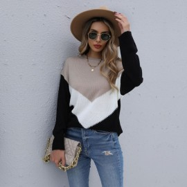 Women's Round Neck Long-sleeved Sweater Nihaostyles Clothing Wholesale NSYYF77323