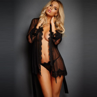 Open Chest Strappy Nightgown Nihaostyles Clothing Wholesale NSFQQ77349