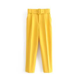Women's Slim Belt Accessories High Waist Pants Multicolor Nihaostyles Clothing Wholesale NSXPF77392