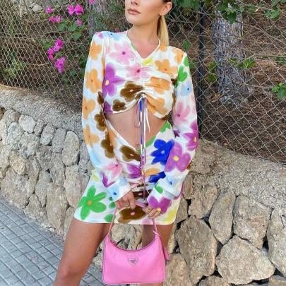 Women's Printed Hedging Dress Nihaostyles Clothing Wholesale NSXPF77393