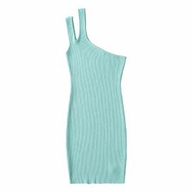 Women's Oblique Shoulder Knitted Strap Dress Nihaostyles Clothing Wholesale NSXPF77401