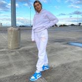 Suéter De Manga Larga Suelto Informal Con Estampado De Letras Para Mujer, Pantalones Casuales, Ropa De Nihaostyles Al Por Mayor NSXPF77421