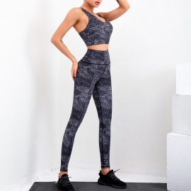 Women's Quick-drying Printed Two-piece Yoga Suit Nihaostyles Clothing Wholesale NSSMA77446
