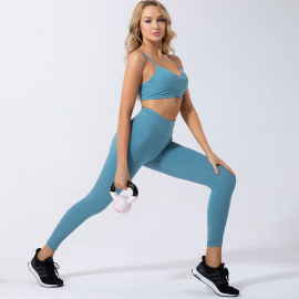 Women's Quick-drying Two-piece Yoga Suit Nihaostyles Clothing Wholesale NSSMA77449