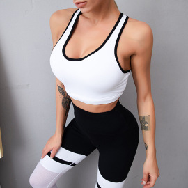 Women's Mesh Stitching Quick-drying Suit Two-piece Yoga Suit Nihaostyles Clothing Wholesale NSSMA77473