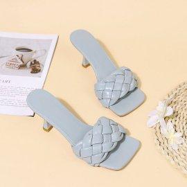 Women's Twist Woven High-heel Slippers Nihaostyles Clothing Wholesale NSHYR77508