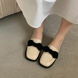 Women's Bow Flat Loafer Shoes Nihaostyles Clothing Wholesale NSCA77526