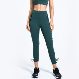 Women's Stretch High Waist Hollow Yoga Leggings Nihaostyles Clothing Wholesale NSSMA77577