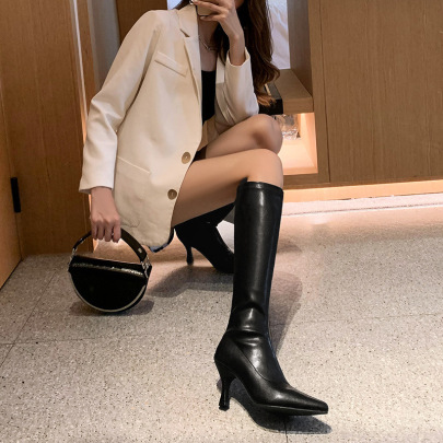Women's Pointed High Heels Stiletto High Elastic Boots Nihaostyles Clothing Wholesale NSCA77615