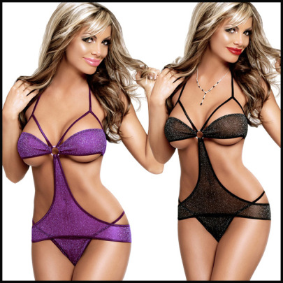 Women's Silver Wire Hollow One-piece Lingerie Nihaostyles Clothing Wholesale NSFQQ77627