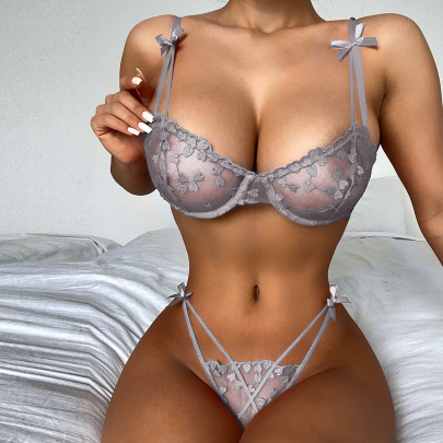 Women's Lace Embroidery Lingerie Suit Nihaostyles Clothing Wholesale NSRBL77637