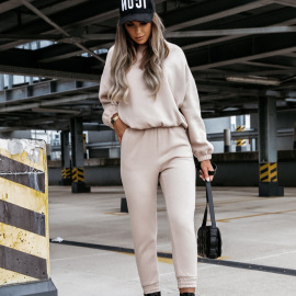 Women's Sweatshirt With Pants Two-piece Leisure Suit Nihaostyles Clothing Wholesale NSMUZ77647