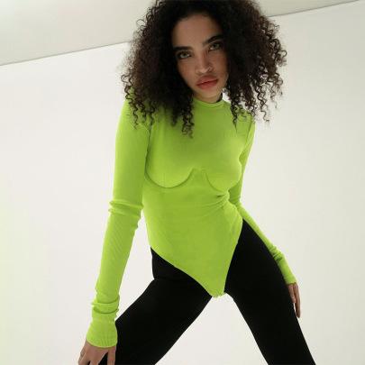 Women's Round Neck Long-sleeved Bodysuit Nihaostyles Clothing Wholesale NSFLY77653