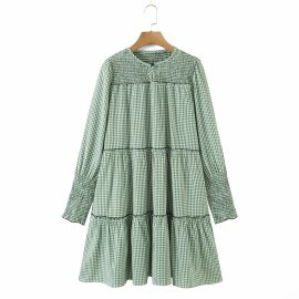 Women's Long-sleeved Round Neck Elastic Dress Nihaostyles Clothing Wholesale NSAM77708