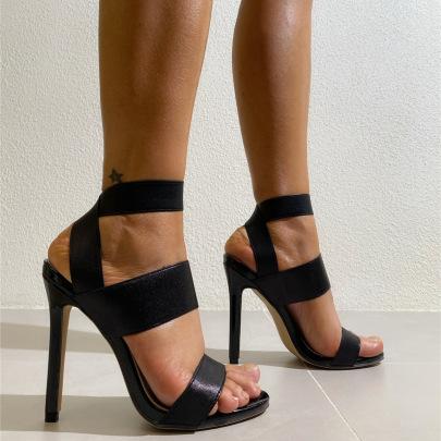 Women's Stiletto High Heels Open-toed Sandals Nihaostyles Clothing Wholesale NSCA77716