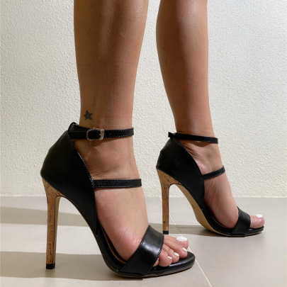 Women's Buckle Stiletto High-heeled Sandals Nihaostyles Clothing Wholesale NSCA77717